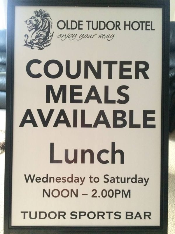 Olde Tudor Hotel Heads Up Food Guide