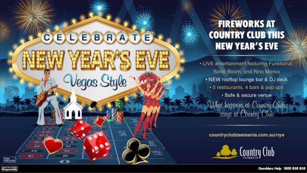 New Year's Eve at Country Club Tasmania 2017
