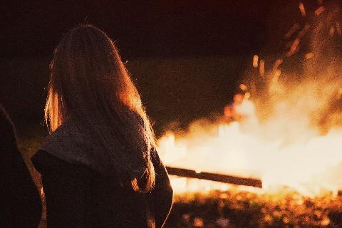 Burning Canes Bonfire - Josef Chromy, Relbia, Tasmania