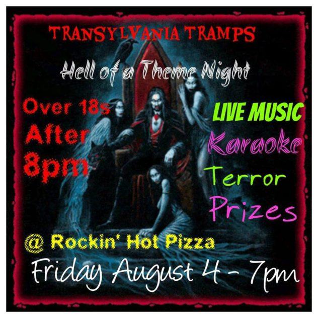 Transylvania Tramps Theme Night - Rockin' Hot Pizza, Launceston
