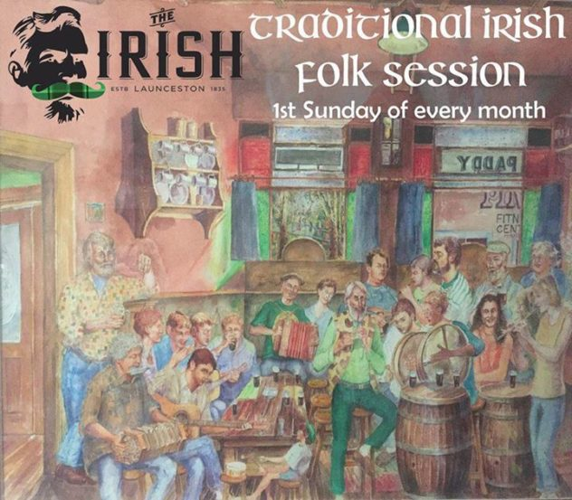 Traditional Folk Session - The Irish, Launceston